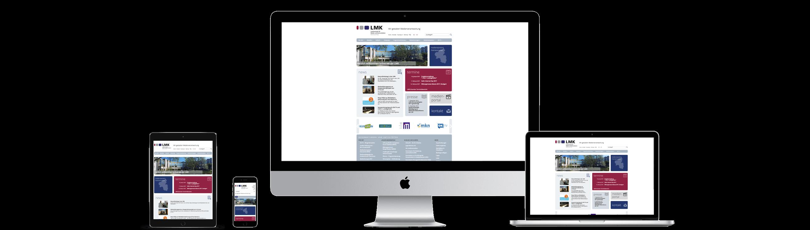 Website www.lmk-online.de – Responsive Webdesign