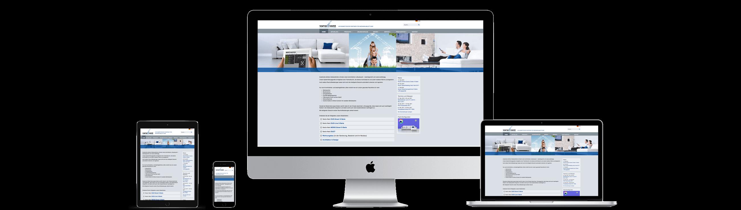 Website www.vario-vent.de – Responsive Webdesign
