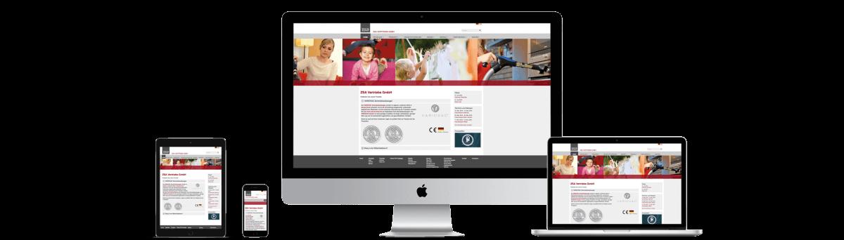 Website www.zsa-online.de – Responsive Webdesign