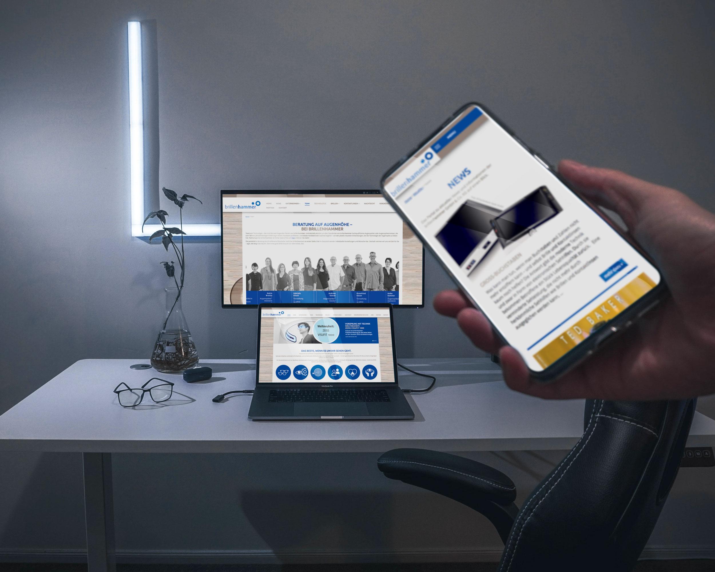 brillenhammer – Webdesign & -entwicklung