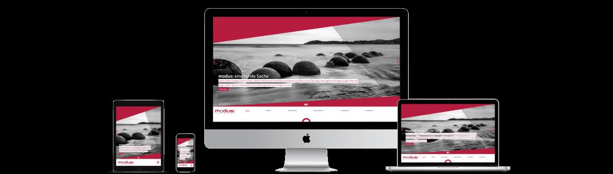 modus: medien + kommunikation gmbh – Relaunch