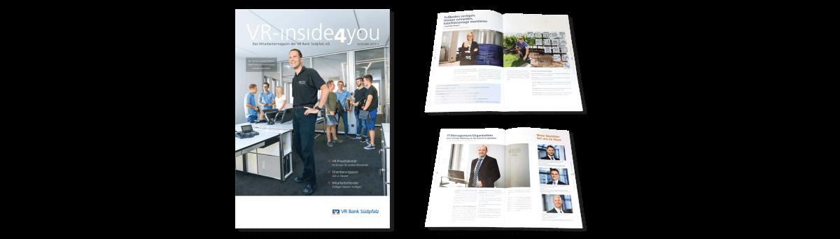 VR Bank Südpfalz | VR-ınsıde4you –Das Mitarbeitermagazin der VR Bank Südpfalz eG