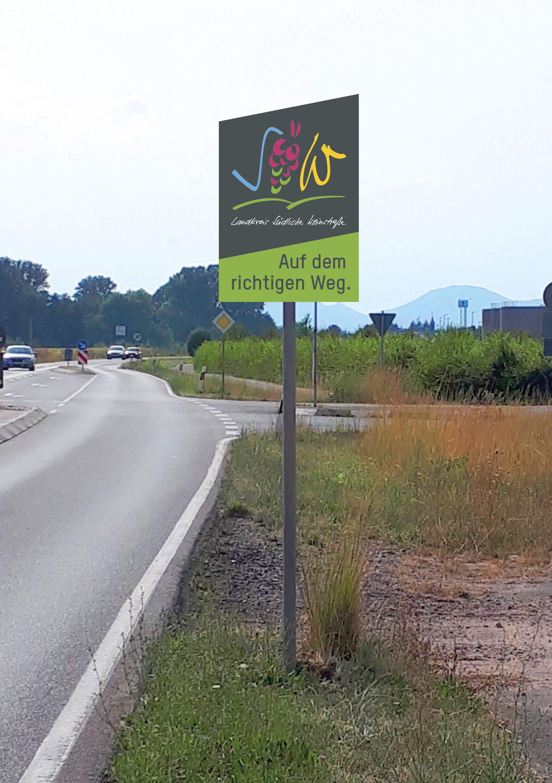 Landkreis Südliche Weinstraße – Vorschau auf die neuen Schilder