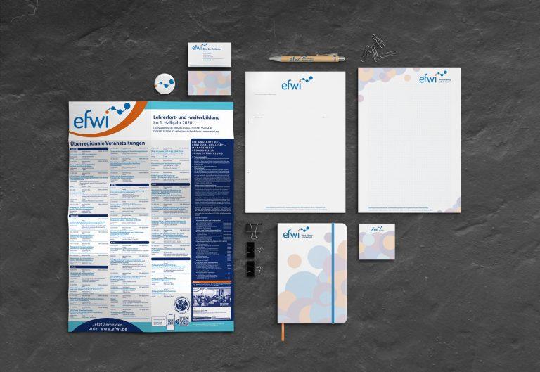 EFWI – Erziehungswissenschaftliches Fort- und Weiterbildungsinstitut –Design/Konzeption/Werbemittel