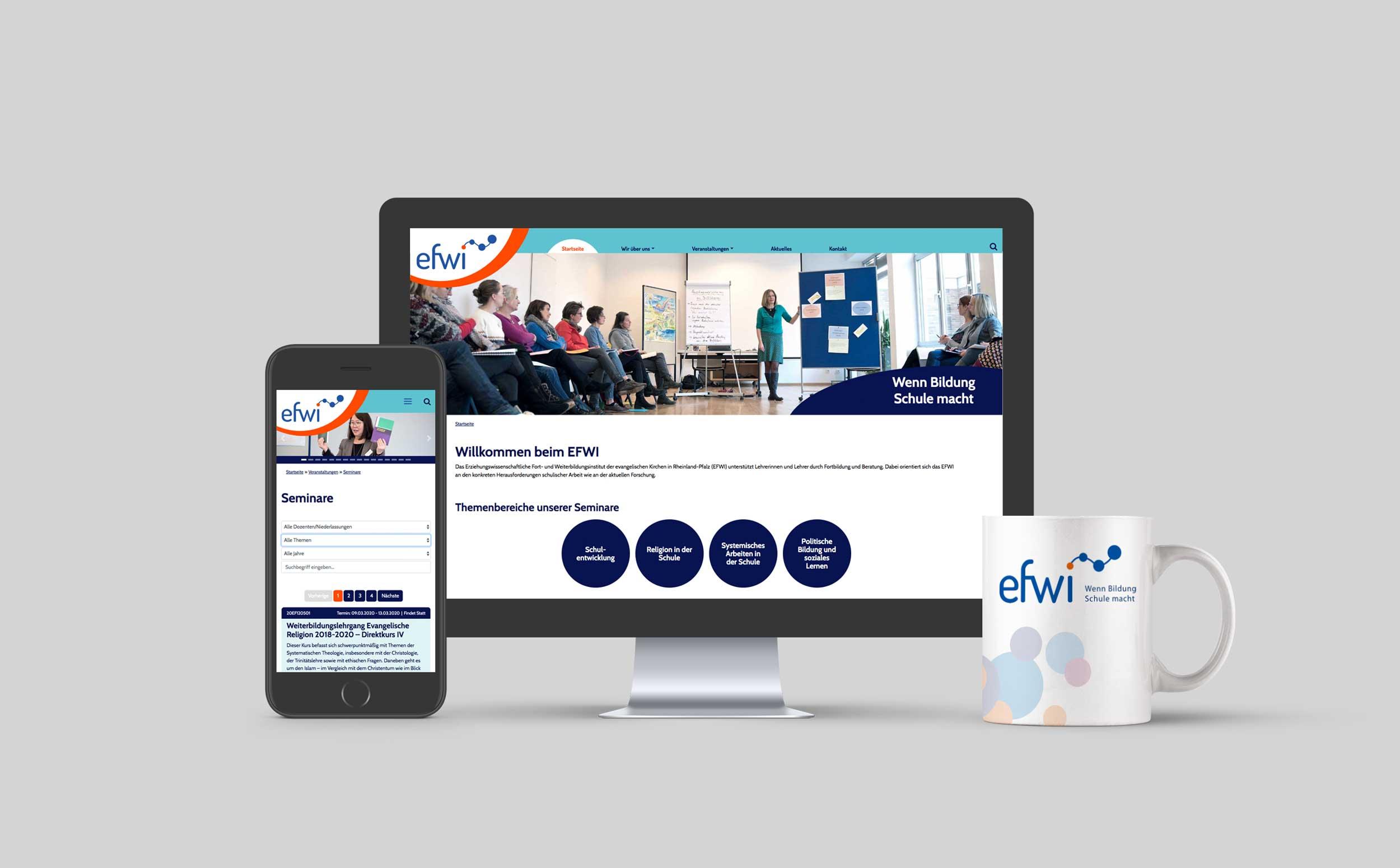 EFWI – Erziehungswissenschaftliches Fort- und Weiterbildungsinstitut – Webdesign & -entwicklung