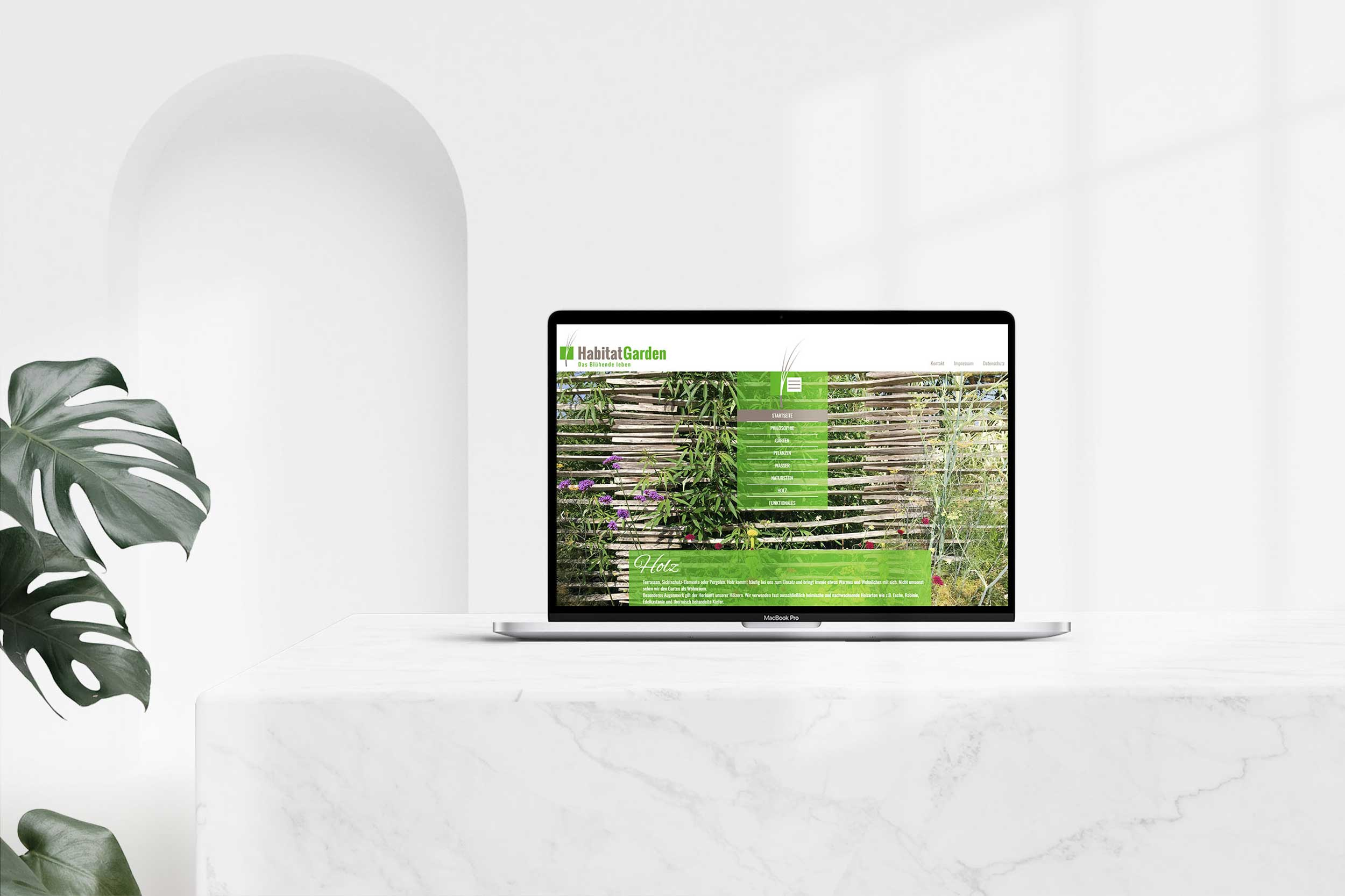 Habitat Garden GmbH & Co. KG – Webdesign & -entwicklung