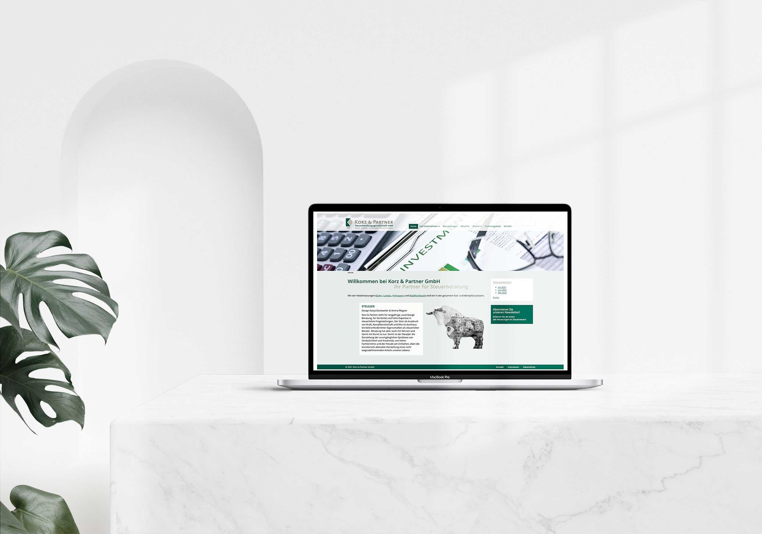 Korz & Partner – Webdesign & -entwicklung