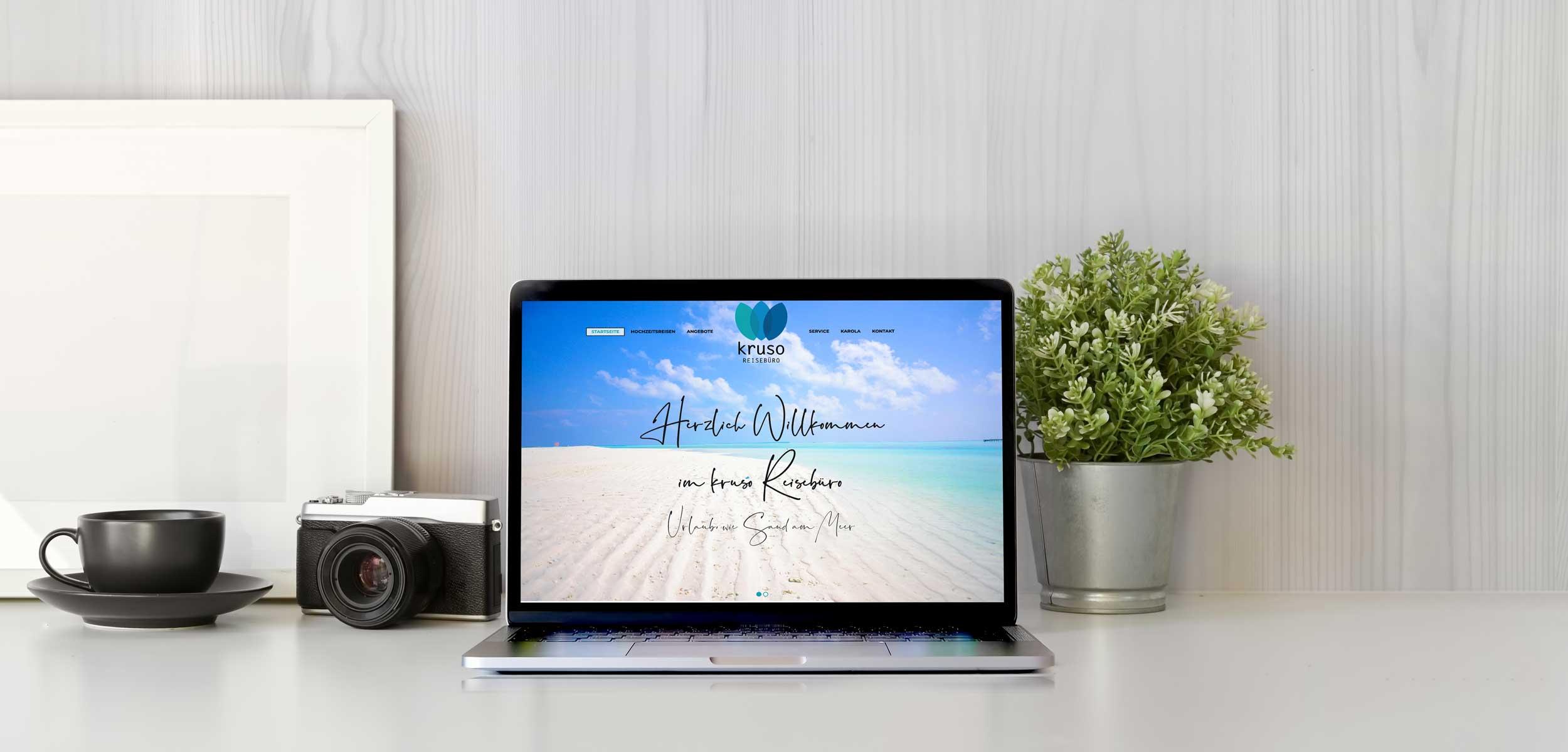 kruso Reisebüro – Webdesign & -entwicklung