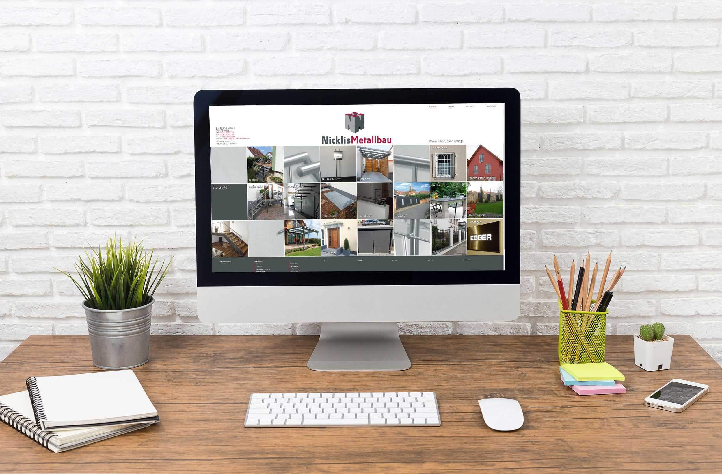 Nicklis Metallbau – Webdesign & -entwicklung