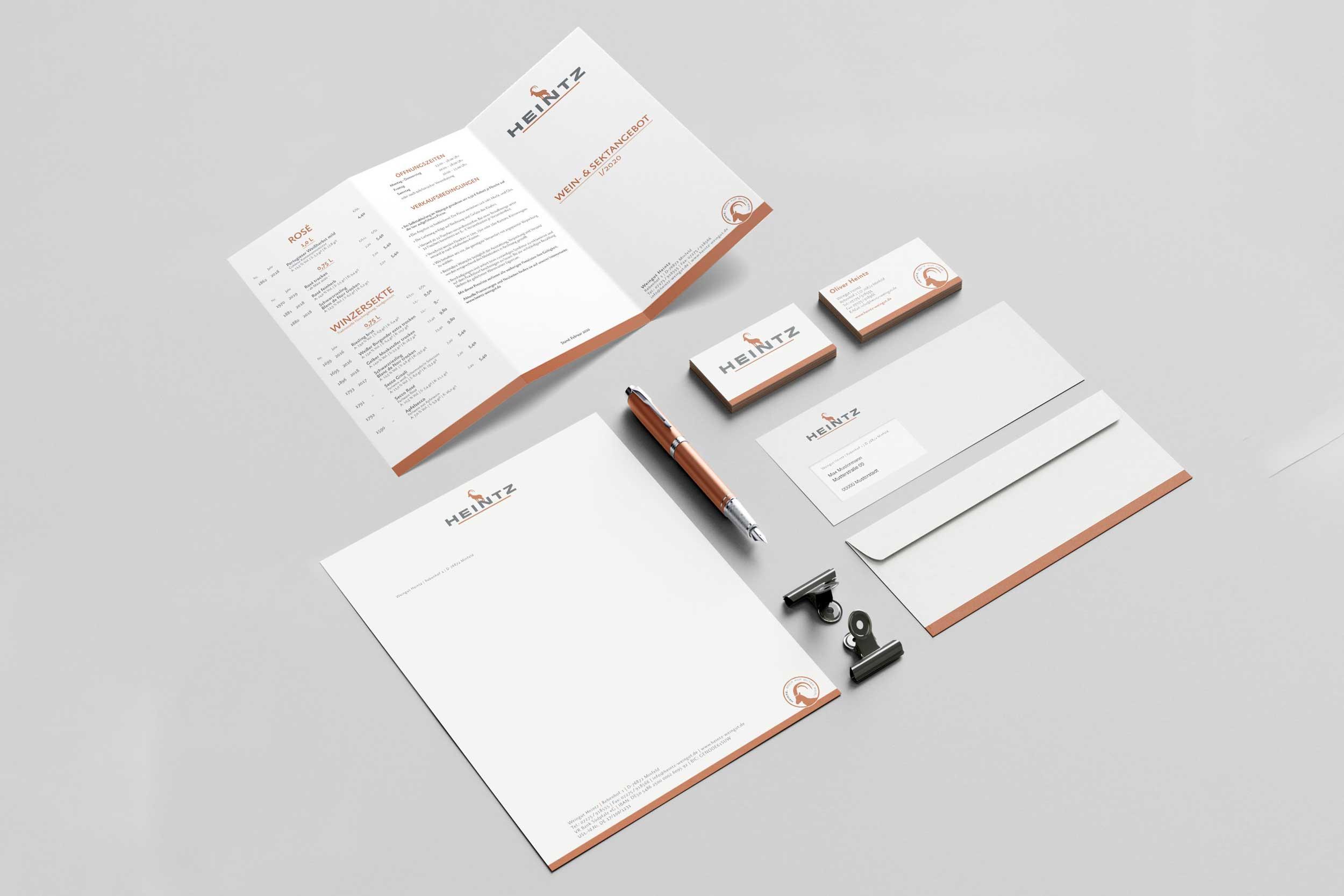 Weingut Heintz –Content/Design/Werbemittel