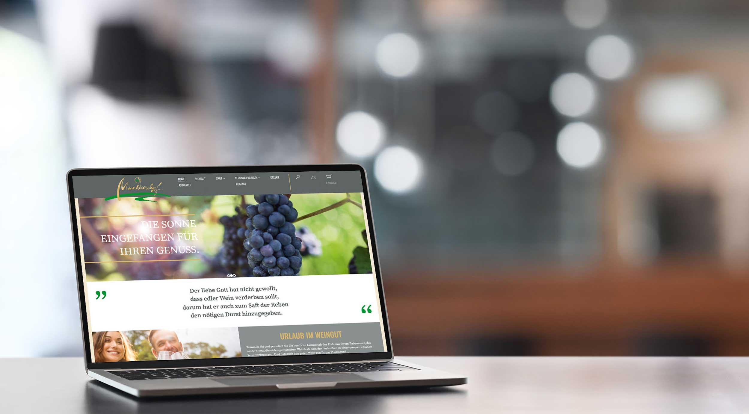 Weingut Martinshof – Webdesign & -entwicklung