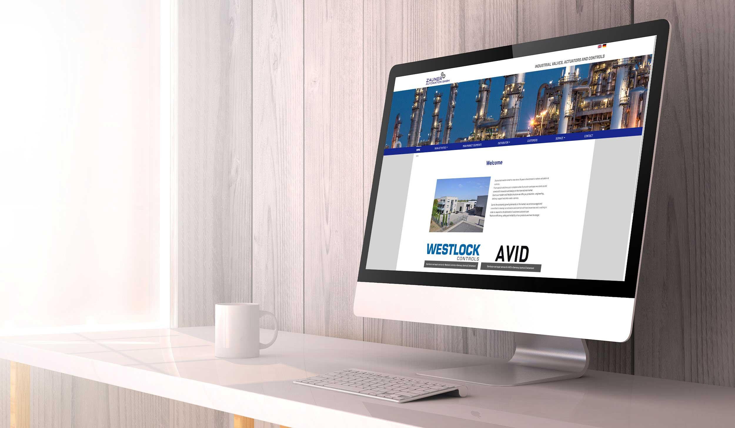 Zauner Automation GmbH – Webdesign & -entwicklung