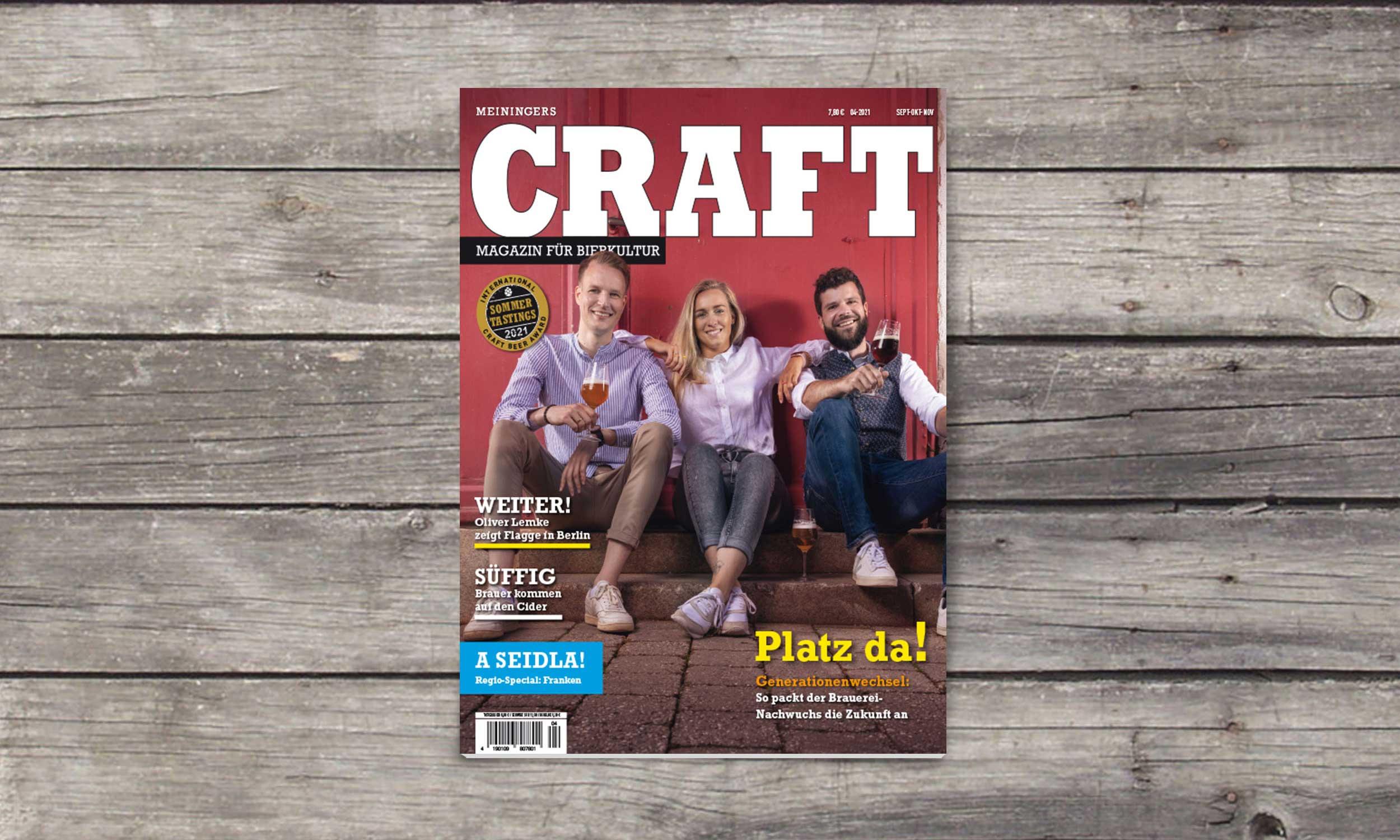 CRAFT –Magazin für Bierkultur | MEININGER VERLAG GmbH | Design