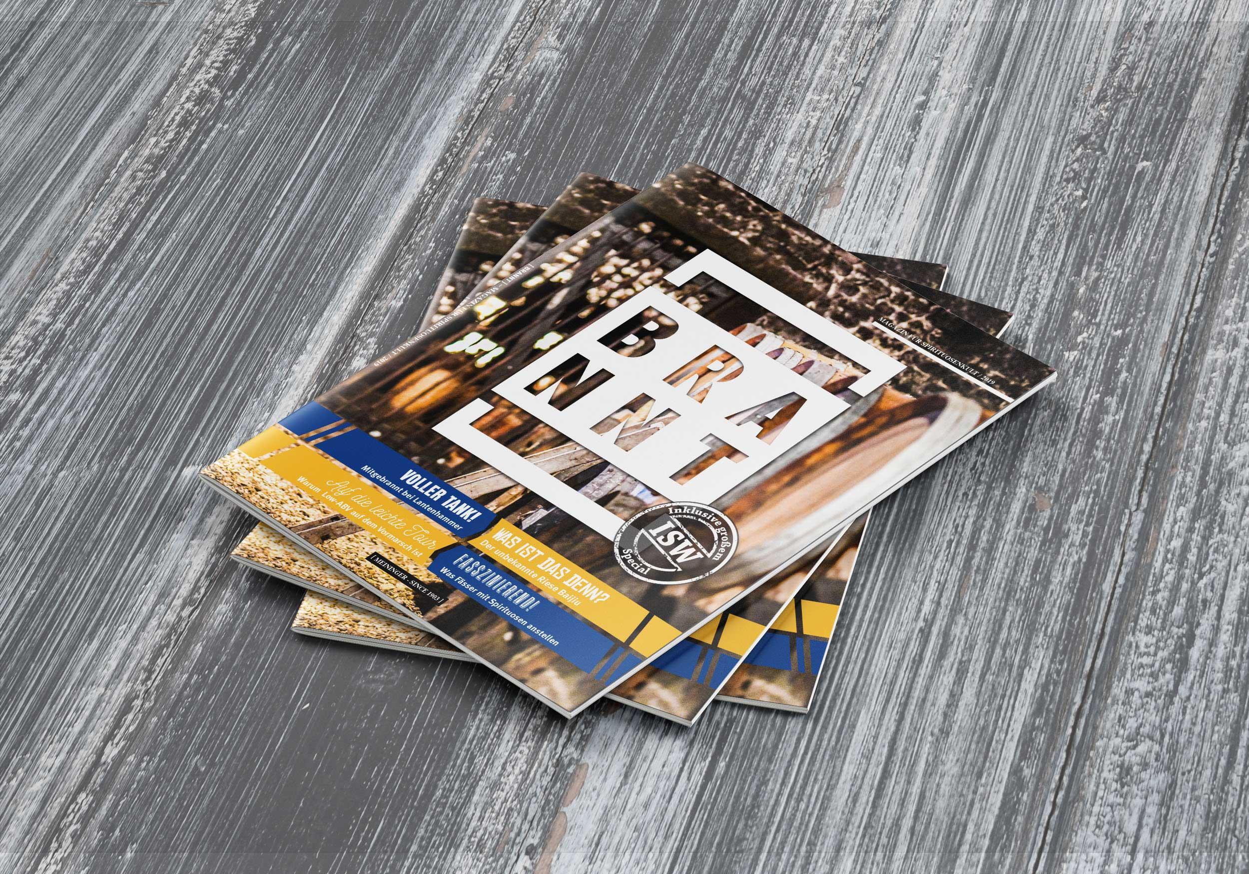 BRANNT – Magazin für Spirituosenkult | Meininger Verlag | Design/Content