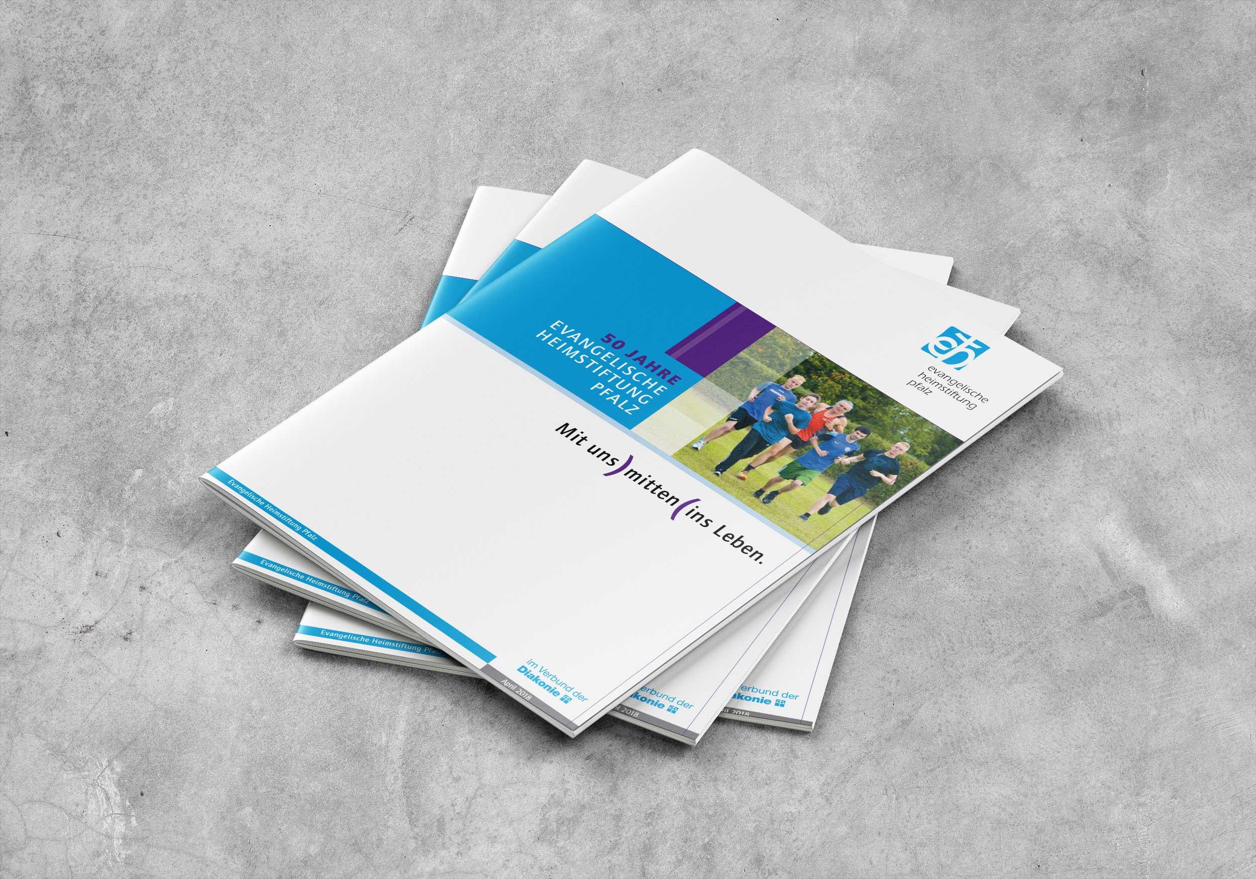 Festschrift 50 Jahre   Evangelische Heimstiftung Pfalz  Design/Content