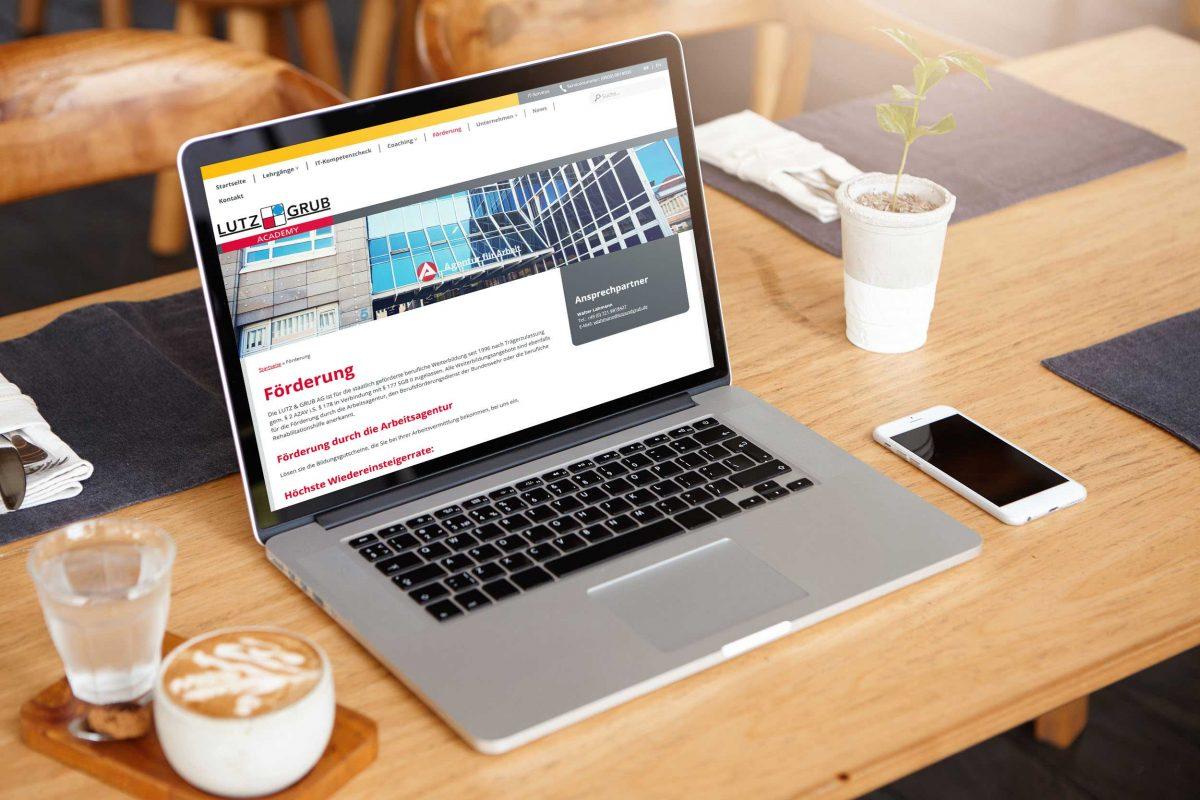LUTZ & GRUB AG | ACADEMY – Webdesign & -entwicklung